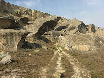 Rocks and path in Gobustan.jpg