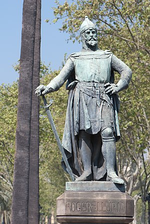 Roger of Lauria - Statue of Roger of Lauria in Barcelona