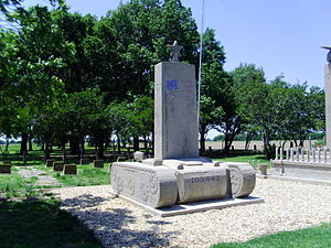 Rohwer War Relocation Center - Monument to the men of the 100th Battalion, 442nd Regimental Combat Team