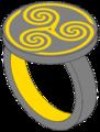 Roissy triskelion iron ring signet.png