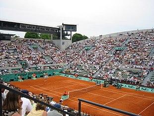 Court Suzanne Lenglen du stade Roland-Garros.