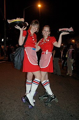 Rollerskate girls in carhop costume 3151469699 fd2d68eb12 z