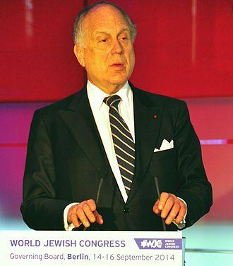 Ronald Lauder - Lauder addressing a World Jewish Congress meeting in Berlin