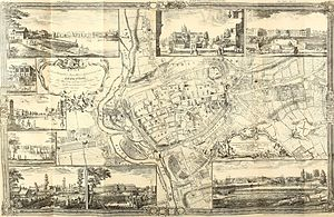 Timeline of Exeter - John Rocque's 1744 map of Exeter