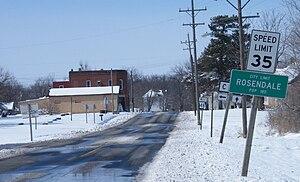 Rosendale, Missouri - Image: Rosendale limits