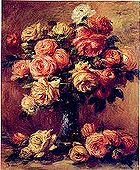 Renoir painting of cabbage roses