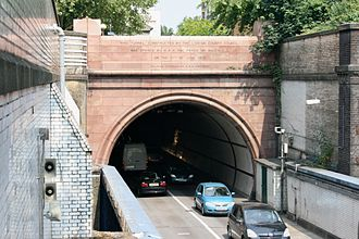 Rotherhithe Tunnel - The southern tunnel portal.