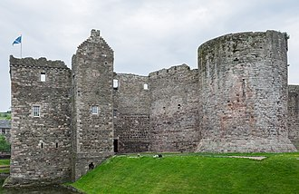 Rothesay Castle - Image: Rothesay Castle Gatehouse and Pigeon Tower 2016