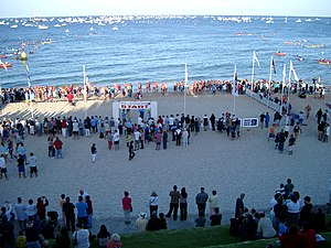 Rottnest Channel Swim - The start of one wave of the Rottnest Channel Swim, 2004