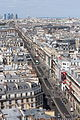 Rue de Rivoli, Paris; Westward view from Tour Saint Jacques 2013-08.jpg