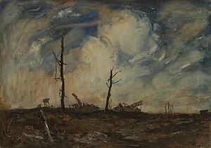 Adrian Hill - Ruins Between Bernafay Wood and Maricourt (Art.IWM ART1663)