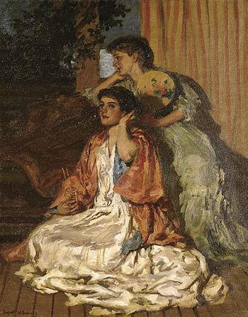 English: Moonlight Sonata, painting, oil on ca...
