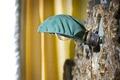 Sänglampa i gula sängen. Liggande bild - Skoklosters slott - 85955.tif
