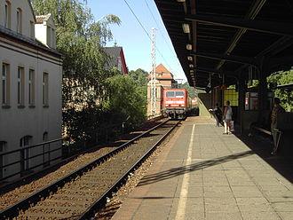 Borsdorf–Coswig railway - S-Bahn in Meissen