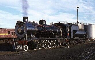 South African type MY tender - Image: SAR Class 14R 1911 De Aar 150478