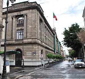 Secretariat of Public Education Main Headquarters - Main facade on Republica de Argentina Street