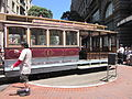 SF cable car no. 1 being turned on Powell St. 3.JPG