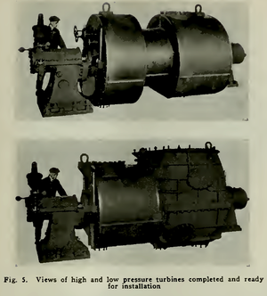 SS Maui (1916) - High and low pressure turbines for Maui.