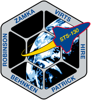 Terry W. Virts - Image: STS 130 patch