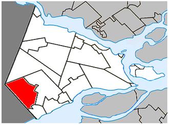 Saint-Télesphore, Quebec - Image: Saint Télesphore Quebec location diagram