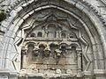 Saint-Vaast-lès-Mello (60), église Saint-Vaast, portail latéral sud, tympan.JPG