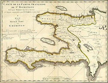 Location of Saint-Domingue