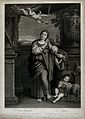 Saint Agnes. Engraving by R. Strange, 1759, after D. Zampier Wellcome V0031506.jpg