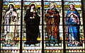 Saint Luke Catholic Church (Danville, Ohio) - stained glass, Saints Teresa of Avila, Clare of Assisi, Monica, and the Immaculate Conception.JPG