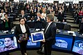 Sakharov Prize daughter of 2019 laureate Ilham Tohti receives prize on his behalf (49239055667).jpg