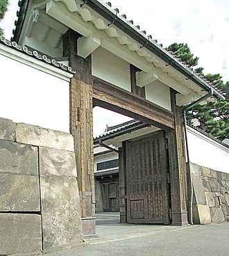 Japan National Route 20 - The Sakurada Gate of the Imperial Palace. Ii Naosuke was assassinated outside this gate.
