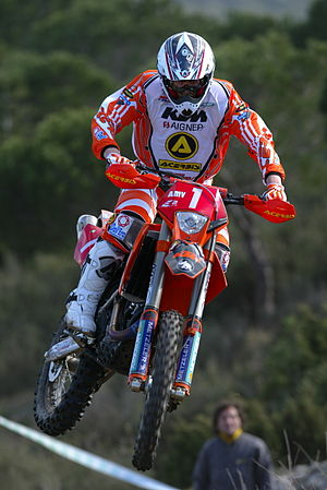 Samuli Aro - Aro riding his KTM bike.