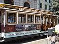 San Francisco tramwaj linowy wóz nr 14.JPG