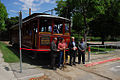 San Jose Historical Museum, restored trolley ribbon-cutting 2009.jpg