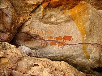 Cederberg - San Bushmen rock art near Stadsaal Cave in the Cederberg