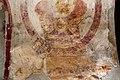 San lorenzo in insula, cripta di epifanio, affreschi di scuola benedettina, 824-842 ca., madonna in trono col bambino e monaco adorante 03.jpg