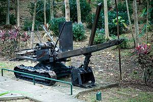 Sandakan Memorial Park - The excavator.