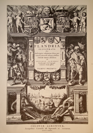 Flandria Illustrata - Front page of the first edition (1641) of the Flandria Illustrata