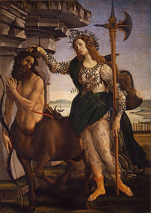 """""""Pallas and the Centaur"""" by Sandro Botticelli"""