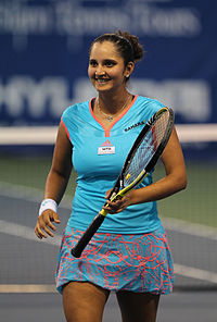 Sania Mirza at Citi Open Tennis July 30, 2011.jpg