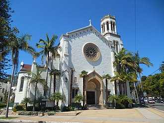Our Lady of Sorrows Church across from Alameda Park SantaBarbaraCA OurLadyOfSorrowsChurch2 20170912.jpg