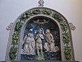 Santa Fiora, chiesa del Suffragio - Terracotta battesimo di Gesù.jpg