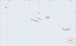 Location of the island of Santa Maria in the archipelago of the Azores