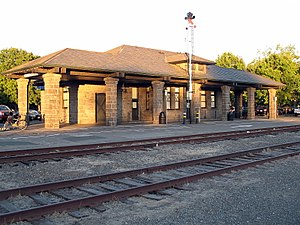 Shadow of a Doubt - Santa Rosa railroad depot in 2010