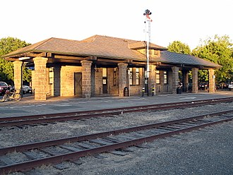 Santa Rosa–Railroad Square station - Santa Rosa Depot in 2010