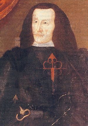 Francisco de Benavides - Diego de Benavides, 8th Count of Santisteban, 1607–1666), Viceroy of Navarre, 1653–1661, Viceroy of Peru, 1661–1666, was the father of the 9th Count of Santisteban del Puerto Francisco de Benavides y Dávila, (1740–1716), Viceroy of Sicily, 1678–1687, Viceroy of Naples, 1687–1696