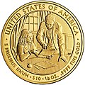 Sarah Childress Polk First Spouse Gold Coin Reverse.jpg