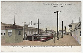 Atlantic City and Shore Railroad - Image: Scene along Atlantic City and Shore Railroad, between Atlantic City and Ocean City Terminus at Boardwalk and Eight St. Ocean City