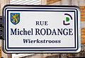 Schëld rue Michel-Rodange, Wierkstrooss, Déifferdeng.jpg
