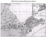 Chine. Carte allemande du Shandong, 1912