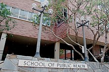 UCLA Fielding School of Public Health entrance on Young Drive South